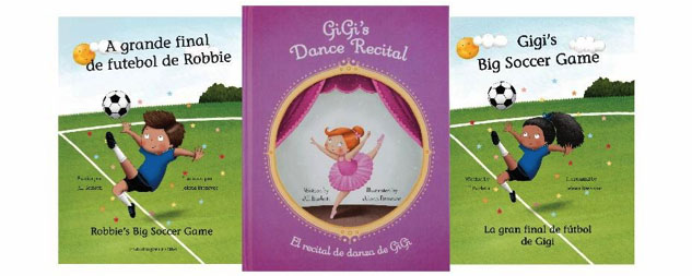 The Big Soccer Game & Dance Recital - bilingual personalized children's books from Snowflake Stories