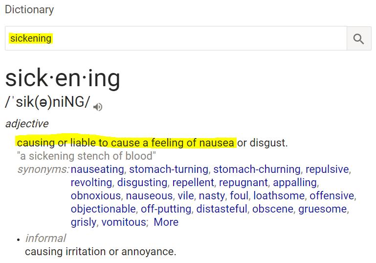 definition-of-sickening