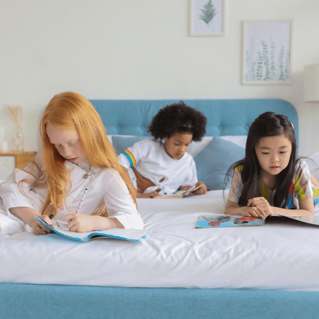 Diverse Girls Reading